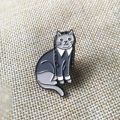 Wednesday Addams Cat Soft Enamel Pin by Pinarmy