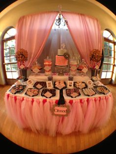 Dessert and Candy Buffet Do this in blue and silver for Frozen