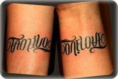 family/one love tattoo