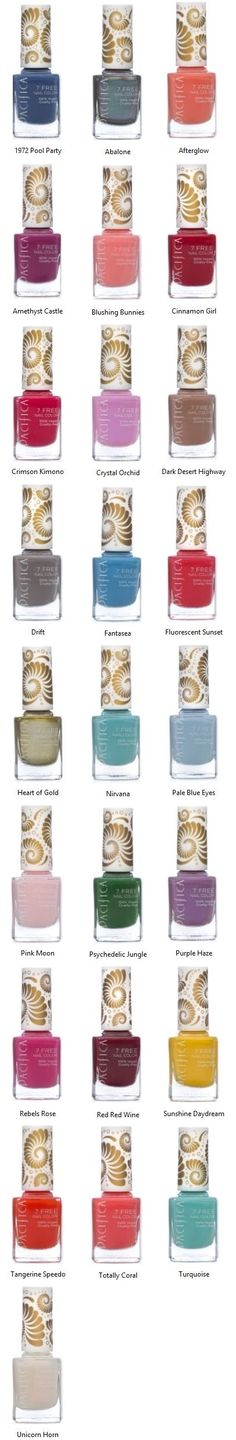 Pacifica's 7 Free Nail Polish is long lasting and void of many chemicals that one would find in traditional nail polish. Amazing vibrant colors that go on smooth and stay put. Plus Pacifica has added a custom wide 100% vegan brush for easier application.