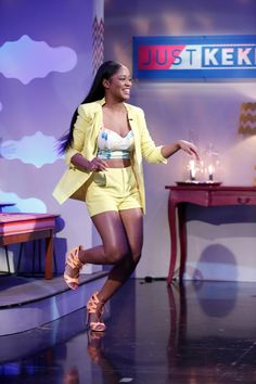 Keke Palmer on the set of her new show Just Keke Ep101