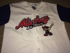 Sale Vintage MICKEY MOUSE Baseball Jersey Disney T by casualisme