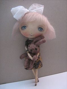 cute handmade doll by Oksana Dadiani