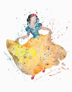 Snow White Watercolor Art Print - Description - Specs - Processing + Shipping - Break away from the mold of big-box stores with this original and unique art illustration which is sure to make your room stand out from the crowd. Images Disney, Disney Pictures, Watercolor Disney, Watercolor Art, Disney And Dreamworks, Disney Pixar, Image Deco, Cute Disney, Disney Wallpaper