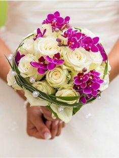 Bildergebnis für brautstrauß orchideen