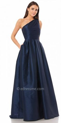 Box Pleated A-Line Ball Gown by Carmen Marc Valvo Infusion #edressme