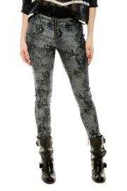Silver Denim Leggings  [ Shoptiques ]