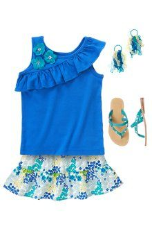 Tropical Flower - Gymboree outfit. Find regular t-shirt for school outfit.