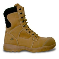Men's Ultralite Comfort Pro 8-inch Side Zip Safety Boots - Sand