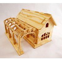 NÁDRAŽÍ  BOBÍK,  wooden toys, wooden houses, toys