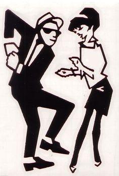 Dancing ska couple
