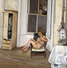 Lucien Freud - Night Interior 1969-70 Oil on canvas 56 x 56 cm