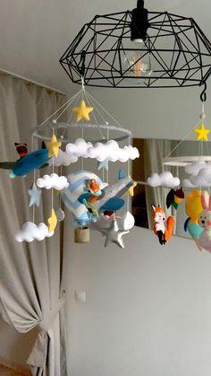 Woodland Baby, Woodland Nursery, Nursery Decor, Bedroom Decor, Felt Toys, Felt Ornaments, Felt Animals, Handmade Baby, Kids Decor