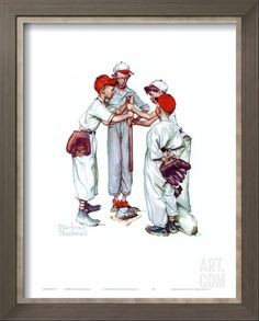 Choosin' Up Art Print by Norman Rockwell at Art.com