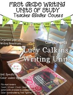 Lucy Calkins First Grade Writing Units of Study Teacher Binder Covers Writing Curriculum, Education And Literacy, Writing Resources, Teaching Writing, Writing Activities, Teaching Ideas, 1st Grade Writing, Work On Writing, First Grade Reading