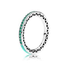 PANDORA | Radiant Hearts of PANDORA, Bright Mint Enamel & Royal Green Crystals