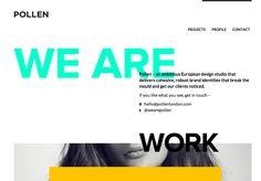 Edgy Typography. http://wearepollen.eu/