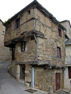The oldest house in Aveyron France, built in the 13th century.