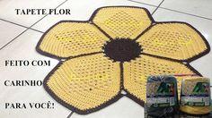 Lyne Bisaillon shared a video Crochet Kitchen, Crochet Home, Crochet Baby, Knit Crochet, Crochet Sunflower, Crochet Flowers, Crochet Designs, Crochet Patterns, Flower Granny Square