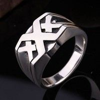 Wish | 2017 Men's Fashion Alloy Retro Hollow Xander Cage Triple X Ring xXx Ring Agent Cool Ring Cosplay Gifts