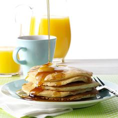 Buttermilk Pancakes Recipe from Taste of Home -- shared by Betty Abrey of Imperial, Saskatchewan