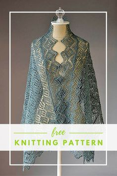 Wrap yourself up in a sparkly lace shawl. This free knitting pattern  features Universal's Universe yarn with a hint of metallic.