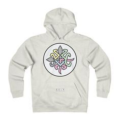 SELF Pastel Logo - Adult Unisex Heavyweight Fleece Hoodie