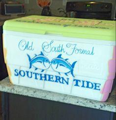 Custom Painted Cooler. $80.00, via Etsy.