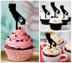 Ca198 New Arrival 10 pcs/Decorations Cupcake Topper/ by Sixday7Day