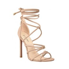 Sierra Nude Suede Knot Lace Up Heels : Simmi Shoes ($9.01) ❤ liked on Polyvore featuring shoes, pumps, heels, lace up heeled shoes, nude lace up shoes, suede leather shoes, nude footwear and suede shoes