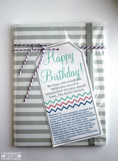 Relief Society Birthday Gift with Printable