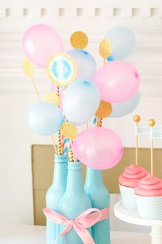 A bright pop of balloons from @andersruff! #PartyOnADime