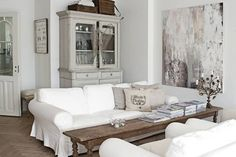 greige: interior design ideas and inspiration for the transitional home : Vintage in gray and white