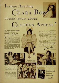 Clara Bow stockings ad