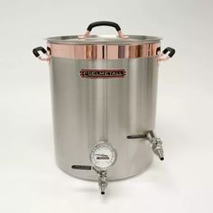 Edelmetall Brü Kettle - Stainless Brew Kettle with Tangential Whirlpool port, ball valve, and thermometer