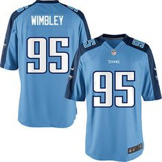 981dc7687 Kamerion Wimbley Tennessee Titans Nike Youth Alternate Game Jersey - Light  Blue Nfl Jerseys For Sale