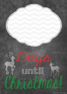 FREE 5 x 7 Christmas Countdown Printable Pay It Forward by JennovaDesigns, $0.20  Simply print, put in a glass frame, and use a dry erase marker!