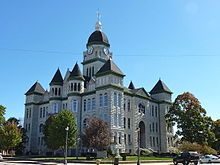 The highly photographed Jasper County Courthouse in Carthage, Missouri is listed in the National Register of Historic Places