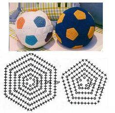Bola de crochê - Gráficos e Receitas