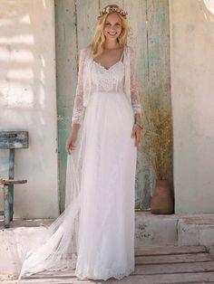 5987875033ea De 27 bedste billeder fra Vintage Lace  Romantiske brudekjoler i ...