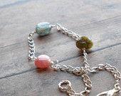 Pink Waves.  Love And Compassion.  Rhodochrosite Gemstone Energy Bracelet.. $27.00, via Etsy.