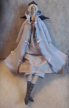 Stuffed Tilda Doll guardian Angel Fairy Godmother by Xena28
