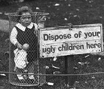 BAHAHAHAHAHA, poor little ugly child.