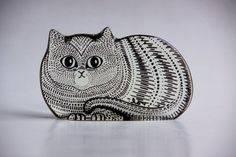 Cats in Art, Illustration, Photography, Decorative Arts, Textiles, Needlework and Design: Abraham Palatnik Lucite Cat Figurine -