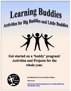 Do you want to begin a big buddies/little buddies learning program this year? Here is a bundle of activities that will guide you to get started with a buddy program and will provide many ideas to take you through the year.   This learning buddy program offers the opportunity for little buddies to get the individual attention and support they need and provides big buddies with authentic opportunities to be positive role models in addition to having a real audience for their work.