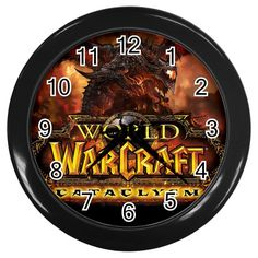 "World of Warcraft Cataclysm [10"" Wall Clock Black/Silver Frame]"
