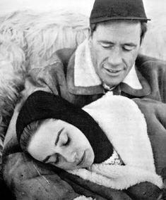 Audrey Hepburn and Mel Ferrer vacationing in St. Moritz, Switzerland, 1958