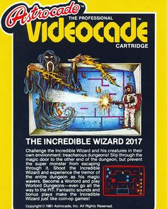 WEBSTA @favoritevideogamessince71 The Incredible Wizard (1982 Bally Astrocade). It is a port of Wizard of Wor. Up to two players fight together in a series of monster-infested mazes, clearing each maze by shooting the creatures. Become a Worlord! https://en.m.wikipedia.org/wiki/Wizard_of_Wor