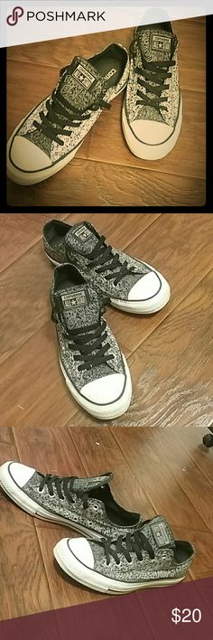 Converse All Star in Metallic Metallic Gray with black Converse Shoes Sneakers
