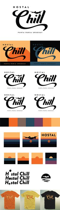 Hostal Chill #logo #branding #campfire #color #hostel #hotel #uruguay #chill #design